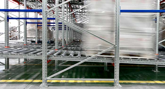 live pallet racking gravity