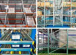 Types of live storage systems: Pallet and picking solutions