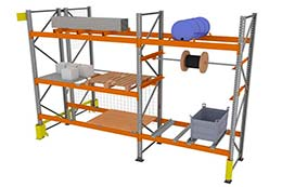 Industrial racking components and accessories