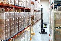 Types of stock and inventory in a warehouse