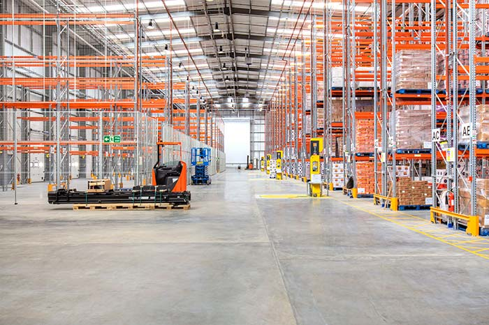 Main areas of a warehouse