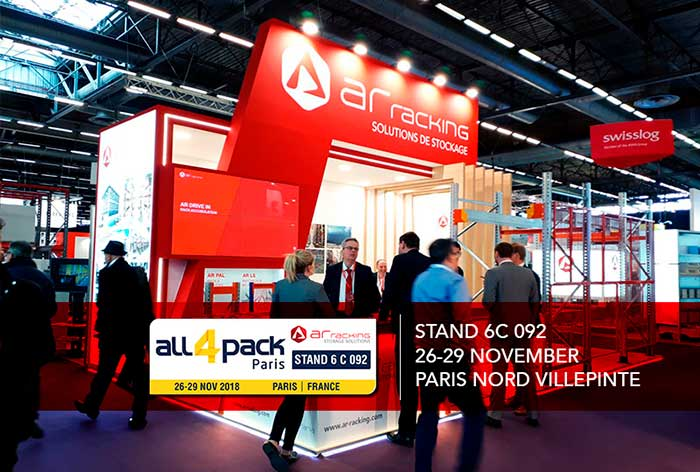 AR Racking participe au salon All4Pack Paris 2018