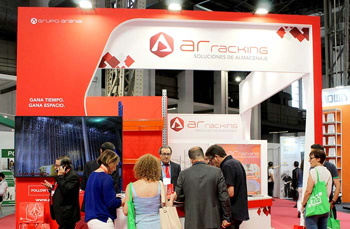 The Live Pallet Racking system and 3D, the main attractions at AR Racking's stand at Logistics Madrid