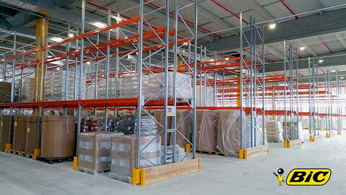 A 1 km warehouse to stock BIC pens! AR Racking successfully concludes the design and installation of the new Conte SA warehouses