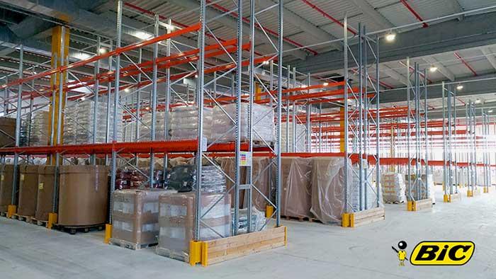 1 km d'entrepot pour stocker les BIC ! AR Racking conclut avec succes la conception et l'installation des nouveaux entrepots de Conte SA