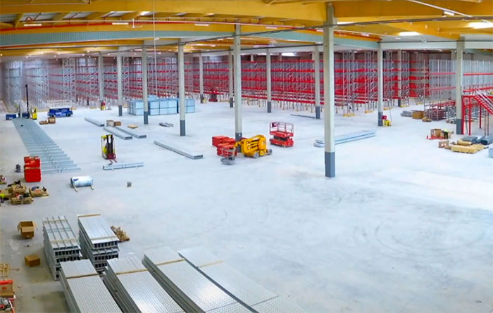 AR Racking equips CBM's new ambitious 12,000 m2 warehouse combining several storage systems