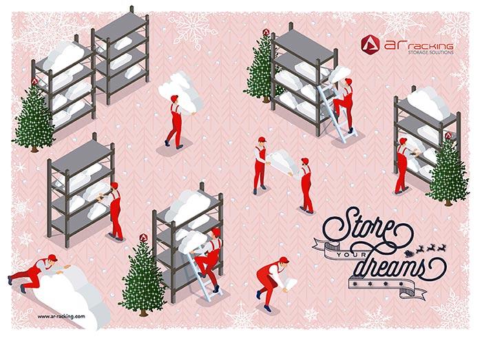 AR Racking te desea una Feliz Navidad, ¡Store your dreams!