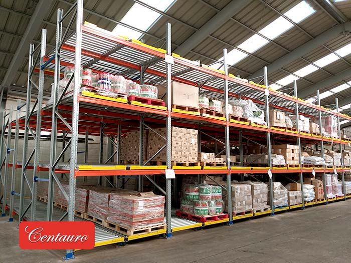 Conservas Centauro renews its warehouse with AR Racking's Live Pallet Racking system
