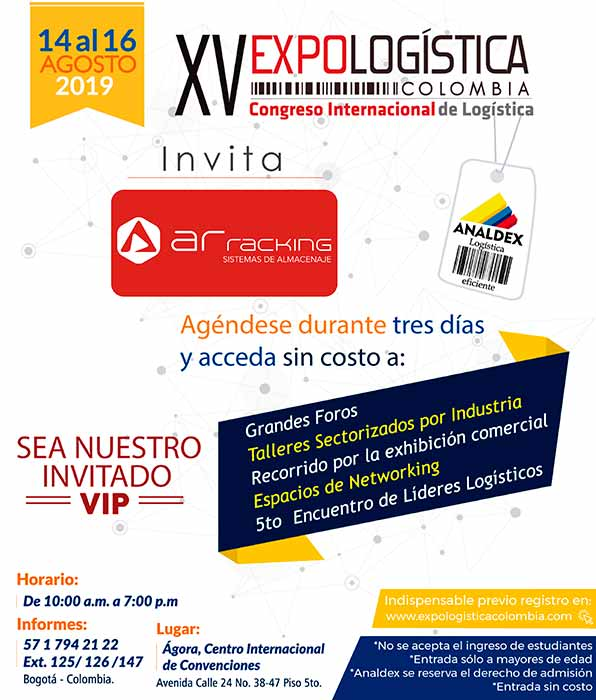 Invitaciones Expologistica Colombia