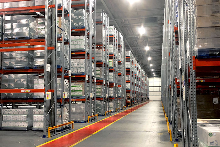 Reconfiguration of the Great Bear warehouse resulting in a capacity for 17,400 pallets