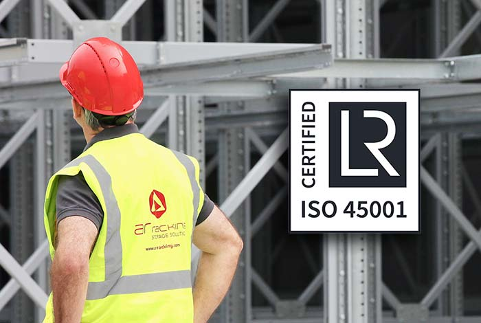AR Racking obtains the new ISO 45001 certification