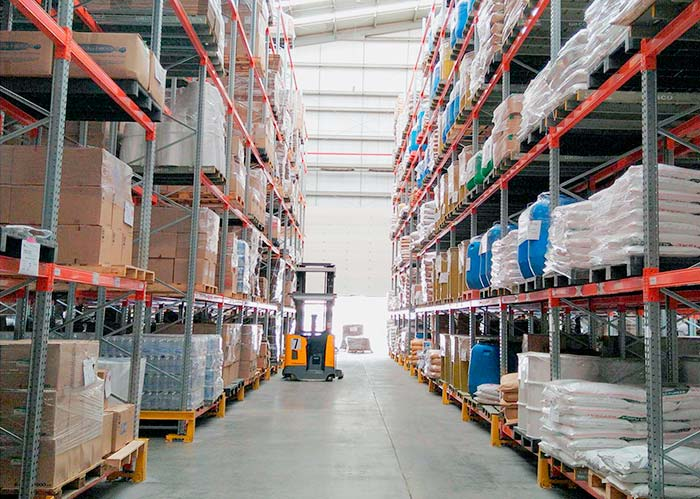 New QBCO warehouse equipped with pallet racking system