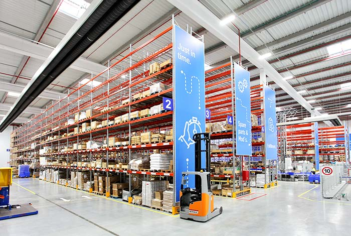 AR Racking combines different storage systems in Thyssenkrupp's new smart centre