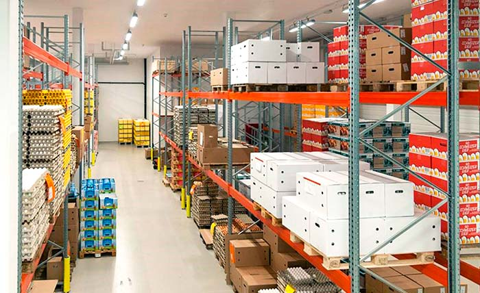Swiss organic eggs producer f&f relies on AR Racking for its storage system
