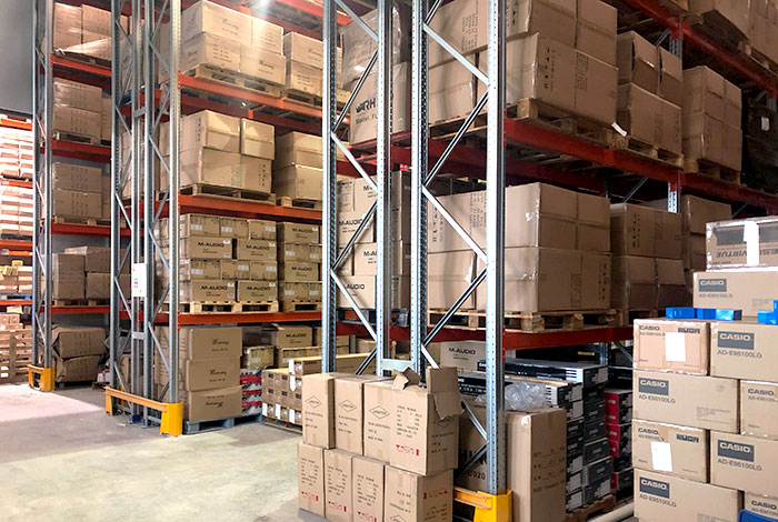 We install adjustable pallet racking at the Mercury Music warehouse in record time
