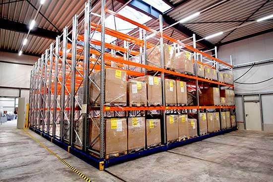 Rack movil pallets Chile