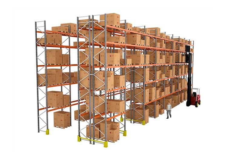 Adjustable pallet racking